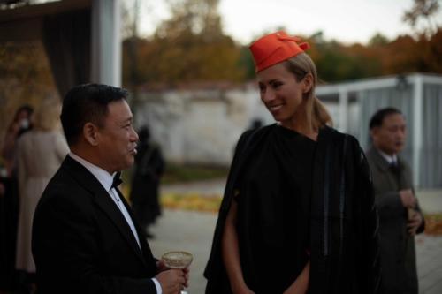 Kinijos ambasadorius Shen Zhifei ir Jolanta Sadauskiene